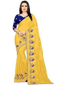 Embroidered Silk Classic Saree