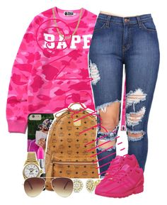 """""""Snowing❄️"""" by marriiiiiiiii ❤ liked on Polyvore featuring A BATHING APE, MCM, Allurez, MAC Cosmetics, adidas, Everlasting Gold, Rolex and Forever 21"""