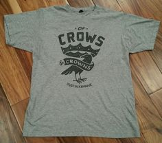 Dustin Kensrue Of Crows and Crowns T-Shirt Men's Large Thrice Hardcore punk rock #Tultex #GraphicTee