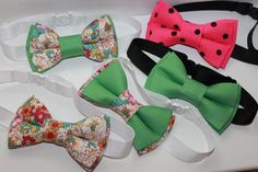 Double bow ties for dogs (11/6,5 cm), hand made, can be attached to the collar or bow tie with collar (10/6 cm with adjustable length max 40 cm).