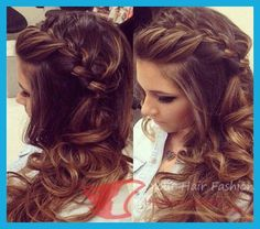 awesome Beautiful Half Up Braid Bun Hairstyle,Half up half down hairstyles with braids are at all times a terrific selection for ladies. They could make a really enticing and gorgeous look on leng...