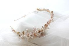 I'm smitten with this custom made freshwater pearl wedding headband I designed a few months ago for the loveliest bride Eugene over in Canada.