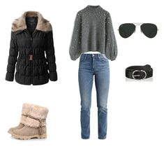 """Casual winter cold"" by sonia-ascensao on Polyvore featuring moda, Levi's, Chicwish, LE3NO e Ray-Ban"