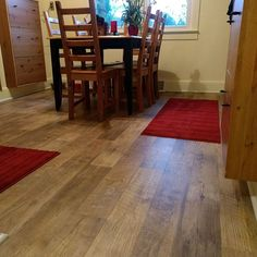 This is a recent installation of a beautiful LVT floor from Mannington. This is Adura Max in Dockside Sand. Mannington Adura, Sand Floor, Kitchen Flooring, Kitchen And Bath, Plank, Building A House, Hardwood Floors, House Plans, Condo