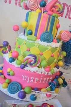 "Photo 10 of Candy Land / Birthday ""Candy Land Sweet Candy Themed Party, Candy Land Theme, Birthday Candy, 16th Birthday, 1st Birthday Parties, Birthday Ideas, Candy Cakes, Cupcake Cakes, Cupcakes"