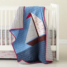 Baby Crib Bedding: Baby Nautical Sailing Crib Bedding in Crib Bedding--land of nod