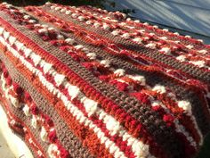 "Free pattern for ""Bacon Baby Blanket""...this would be great in larger sizes too!"