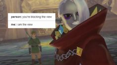 Meet Lord Ghirahim, the guy Link is fighting with and called David Bowie by someone watching me play The Legend of Zelda: Skyward Sword. In this boss battle, Link just met him too. Twilight Princess Hd, Zelda Skyward, Skyward Sword Link, Legend Of Zelda Memes, Hyrule Warriors, The Uncanny, Wind Waker, Breath Of The Wild, Fire Emblem