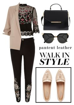 """Patent Leather!"" by freakout3 ❤ liked on Polyvore featuring Ted Baker, Carvela, River Island and Fendi"