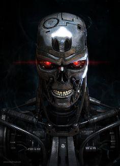 "T-800, Model: 101, Manufacturer: Cyberdyne Systems Corp. Art by Alexander ""dadmad"" Billik."