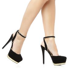 Black and Gold heels. $39