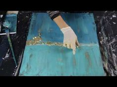 Painting with Acrylics - You Can Paint This Art Tutorial - Texture Medium Crackle Paste - YouTube Acrylic Painting For Beginners, Painting Videos, Painting Lessons, Diy Canvas Art, Abstract Canvas Art, Gold Leaf Art, Palette Knife Painting, Abstract Landscape, Gold Paint