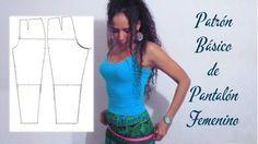 Aprende con SANDRA PADILLA : Patrón Básico de PANTALÓN FEMENINO
