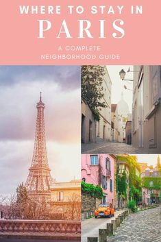 Where to Stay in Paris. A complete neighborhood guide to the Paris Arrondissements including maps affordable Airbnbs in Paris and what to do in each Paris neighborhood. Find the best places to stay in Paris here. Travel Advice, Travel Guides, Travel Tips, Travel Articles, Budget Travel, Time Travel, Travel Hacks, Travel Packing, Travel Essentials