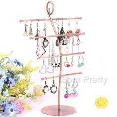 $8.24 Morin Khuur Shape Earrings Show Rack Four Layers Metal Jewelry Display…