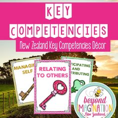 FREE. Key Competencies for kiwi / New Zealand classrooms. These are bright, bold, and beautiful. What's even better... they are free! Follow Beyond Imagination New Zealand on Pinterest for New Zealand based resources.