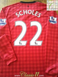 Relive Paul Scholes's 2012/2013 Premier League season with this original Nike Manchester United home football shirt.