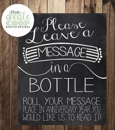 Message in a Bottle Wedding Reception Instant by TheDoodleCoop, $5.00