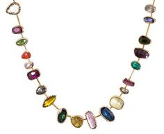 Dorette - Multi-Gem Reine Collar Necklace in Designers Dorette Necklaces at TWISTonline