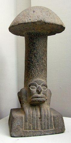 Figure Beneath Mushroom Maya Culture (Museo Nacional De Arqueologia, Guatemala City)