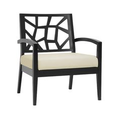 Add a touch of sophistication to your living room or study with this Mosaic Modern Lounge Chair. This extra wide seat is cushioned with polyurethane foam and upholstered in elegant cream polyester twil...  Find the Mosaic Modern Lounge Chair in Dark Brown and Cream, as seen in the Lounge Chairs Collection at http://dotandbo.com/category/furniture/chairs/lounge-chairs?utm_source=pinterest&utm_medium=organic&db_sku=107400