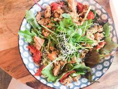 Lunchen met een Ceasar Salade bij Greenway Antwerpen