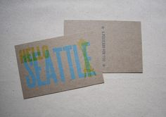 Hello Seattle postcard by Constellation & Co.