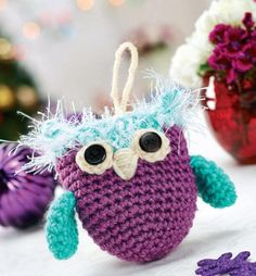 Crochet owl decoration