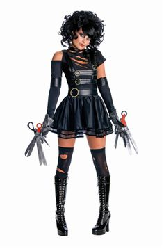 Oooooh AND we have found a winner! This is what i'm going to be.. edward scissorhands!!
