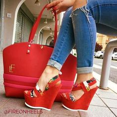 While Supplies Last Red Floral Wedge Sandals Open Toe Platform Shoes Hot Shoes, Crazy Shoes, Me Too Shoes, Wedge Sandals, Wedge Shoes, Shoes Heels, Floral Wedges, Red Wedges, Platform High Heels