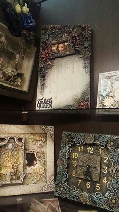 Shabby Chic - love this! But surely the towels could have been folded appropriately. Looks like my kiddos did the folding Altered Canvas, Altered Art, Mixed Media Collage, Mixed Media Canvas, Mixed Media Scrapbooking, Mixed Media Tutorials, Collages, Diy Arts And Crafts, Texture Art