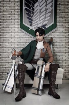Omg *nosebleeds* If a Levi cosplayer were to show up at my house in their outfit, I would tackle them and F them right there, so babe if you want any, theres a good tip ;)