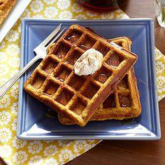 GF Pumpkin Waffles