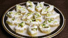 Pineapple Sandesh is a popular Bengali sweet. This is healthy and delicious dessert and a great dessert for sophisticated people and so easy to make. Indian Dessert Recipes, Sweets Recipes, Ethnic Recipes, Great Desserts, Delicious Desserts, Pineapple Slices, Cheese Cloth, Feta, Vegetarian Recipes