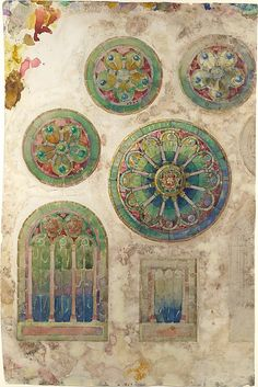Louis Comfort Tiffany - Design for a rose window