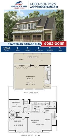Get to know this stunning Craftsman design that features 1,244 sq. ft., 2 bedrooms, 1.5 bathrooms, a covered porch, additional storage and the front entry garage feature.