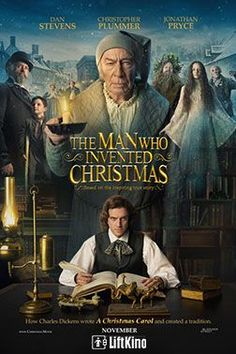 """THE MAN WHO INVENTED CHRISTMAS The journey that led to the creation of Ebenezer Scrooge (Christopher Plummer) and other classic characters from """"A Christmas Carol."""" The film shows how Charles Dickens (Dan Stevens) conjured up a timeless tale. Films Hd, Films Cinema, Hd Movies, Movies Online, Movies Free, 2017 Movies, Movie Tv, Film 2017, Christmas Carol"""