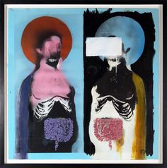 """""""Sacred Gut"""" - Painted by and first featured in the Heligoland sleeve artwork in and reproduced in """"The Art Of Massive Attack"""" book, first published in Victor Pasmore, Sean Scully, Massive Attack, Peter Blake, Music Artwork, Street Art Graffiti, Banksy, Art Blog, Printmaking"""
