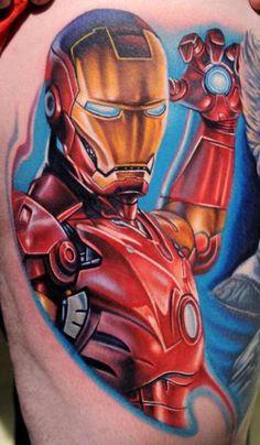#5 Iron Man - Top 15 Superhero Tattoos: http://www.tattoos.net/articles/tattoos/top-superhero-and-comic-book-tattoos/