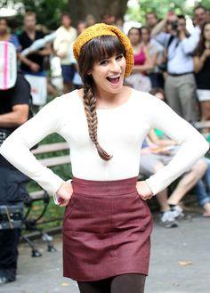 Lea Michele - Lea Michele Films 'Glee' in NYC