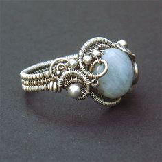 Aquamarine Siren Ring by Samantha_Braund, via Flickr