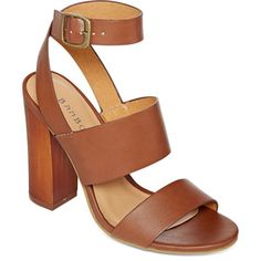 Bamboo Embark Chunky Ankle Strap Sandals