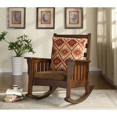 Shop for Furniture of America Rosewood Dark Oak Rocking Accent Chair. Get free…