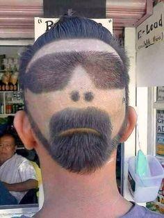 Memes That Entertaining As Well As Funny Shaved Hair Designs, New Funny Memes, Funny Fails, Crazy Hair Days, Haircut Designs, Cartoon Jokes, Fade Haircut, Beard Haircut, Boy Hairstyles