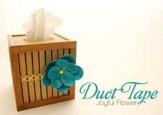 Flower from Duct Tape