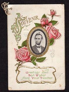 1907-1908 AZELTA SCHOOL*CLYMER TOWNSHIP*PA*PENNSYLVANIA*EDNA BALCH*ABE LINCOLN
