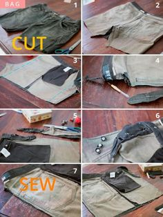 DIY Upcycled Jeans Bike Pannier