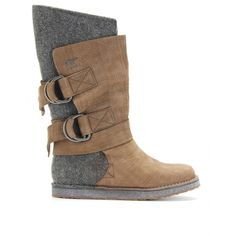 These are something different from their classic style > mytheresa.com - Sorel - CHIPAKO FELT AND LEATHER BOOTS -