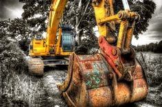 excavator by mal bray photographer