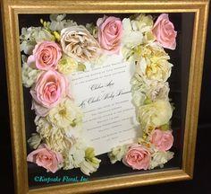 Antique Silver 16x16 custom shadow box #floralpreservation #wedding